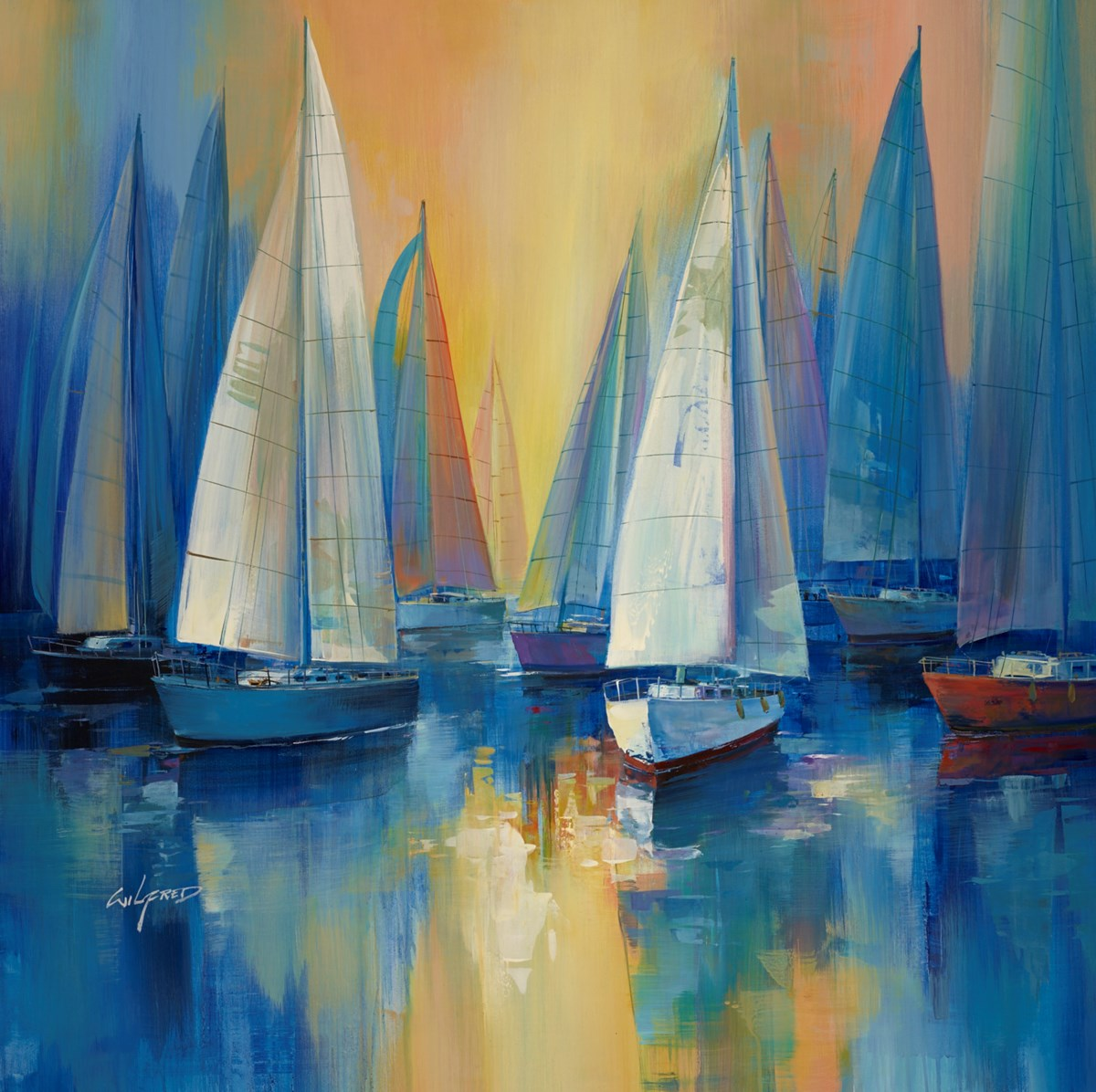 Still Reflections II by wilfred -  sized 37x38 inches. Available from Whitewall Galleries